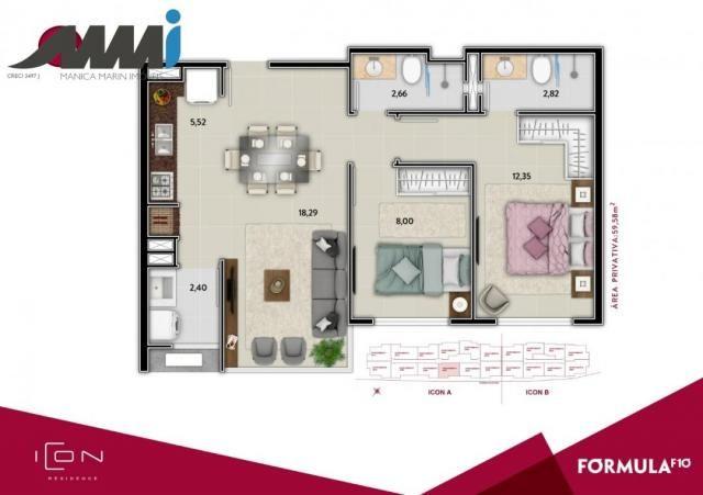 Icon - apartamento com 02 quartos sendo 01 suíte em bc - Foto 16
