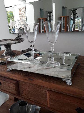 Bandeja espelhada, espelho , MDF, casa, mesa, cozinha, sala, banheiro  - Foto 5