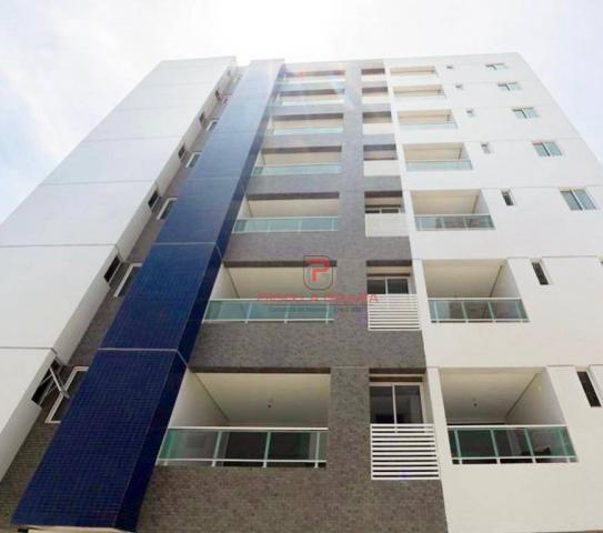 Apartamento 3 quartos no Bessa com varanda gourmet e área de lazer