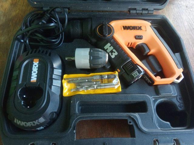 Martelete a Bateria WORX - Com Maleta e Acessórios
