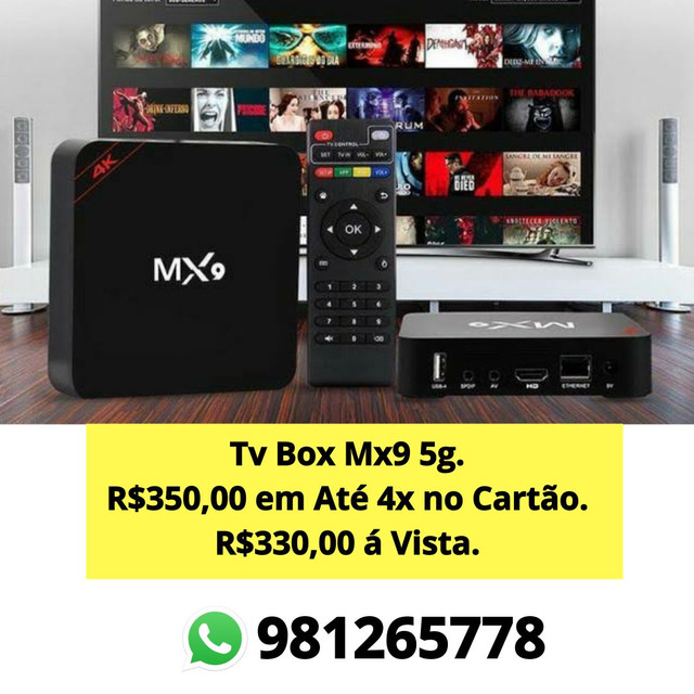 TVBox Mx9 4k 5g - Foto 2