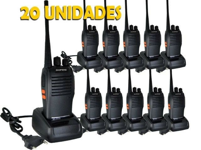 Kit 20 Rádios Comunicador Walk Talk Baofeng - Bf - 777s<br><br><br>