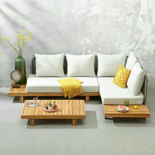 sofás e poltronas para piscinas e Jardim com tecido lmpermeabisante  - Foto 3