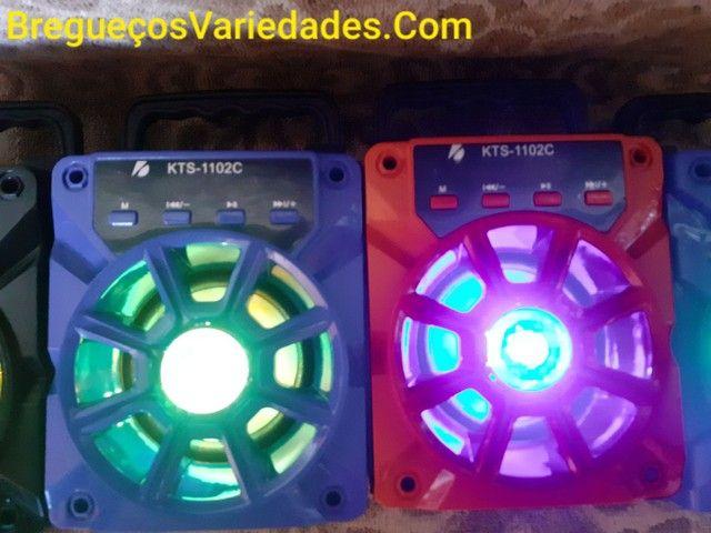 CAIXA DE SOM COM CONTROLE REMOTO E CABO USB.  - Foto 2