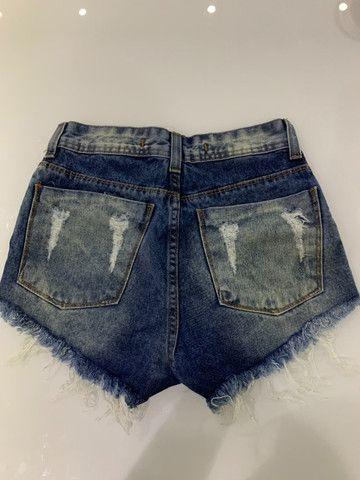 Short hot pants cintura alta - Foto 2