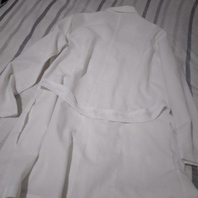 Jaleco Branco M grande - Foto 2