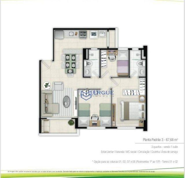 Apartamento com 2 dormitórios à venda, 57 m² por R$ 371.910,17 - Jóquei Clube - Fortaleza/ - Foto 11