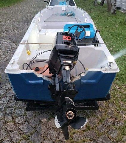 Vendo barco de Fibra - Foto 4