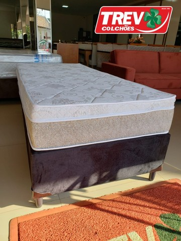 Conjunto Box Solteiro - Sevilha  Molas Ensacadas - Promoção de Outubro - Foto 4