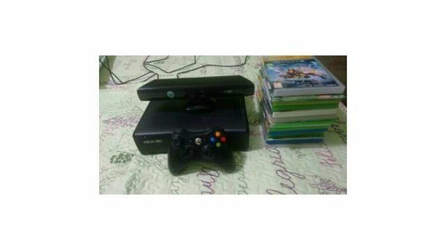 Console Xbox 360 Super Slim 500 GB + Sensor Kinect + controle + 12 Jogos Originais