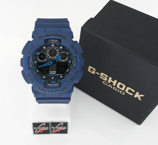 ea20b91b5af Relogio G Shock Casio Azul GA-100 Novo - Bijouterias