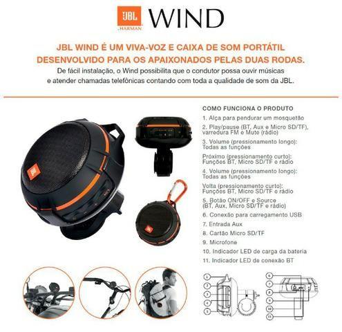 Oferta Caixa Bluetooth JBL Wind Original - Foto 14