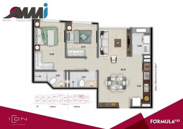 Icon - apartamento com 02 quartos sendo 01 suíte em bc - Foto 17