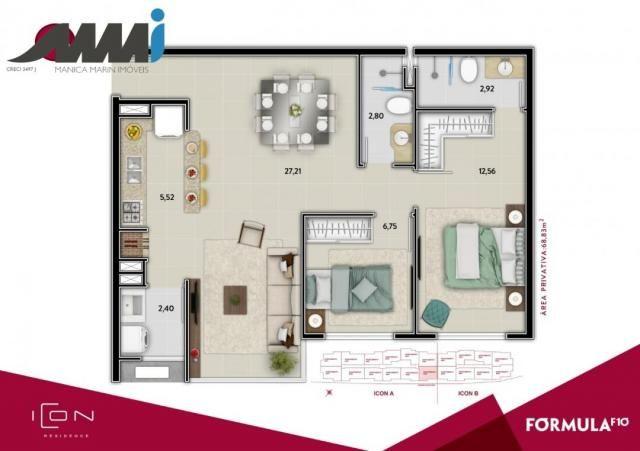 Icon - apartamento com 02 quartos sendo 01 suíte em bc - Foto 14