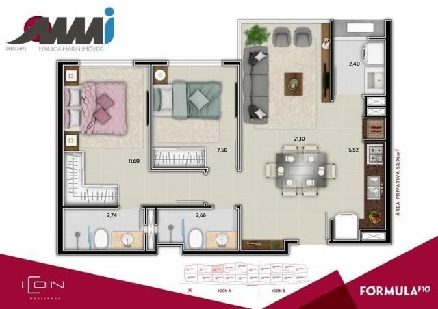 Icon - apartamento com 02 quartos sendo 01 suíte em bc - Foto 10