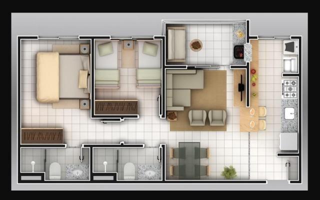 Apartamento com 2 dormitórios à venda, 59 m² por R$ 190.000 - Jardim Ipê - Goiânia/GO - Foto 2