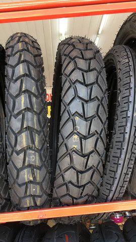 pneu traseiro para motos xre lander 120/80-18 technic entrega todo rio - Foto 2