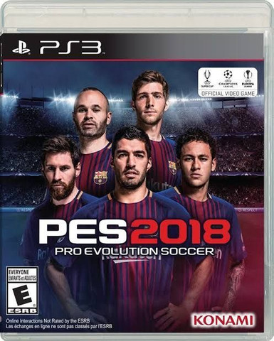 Pes 2018 PS3 mídia digital