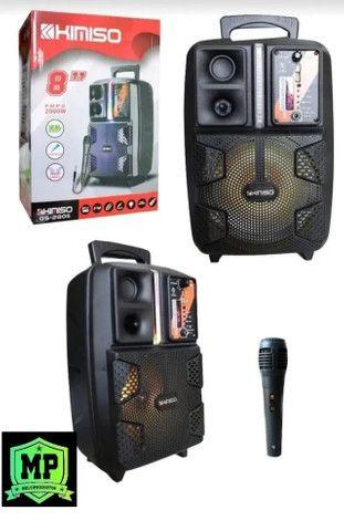 Caixa de som Amplificado (Kimiso Qs-2805) 2000W - A Mais Procurada Na Loja!