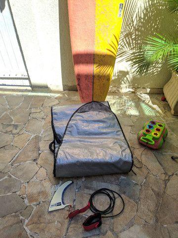 Longboard 9.0 + Capa + Quilha + Estrepe panturrilha - Foto 3