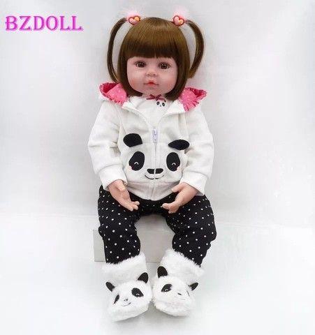Bebê Reborn Panda 100% silicone  - Foto 2