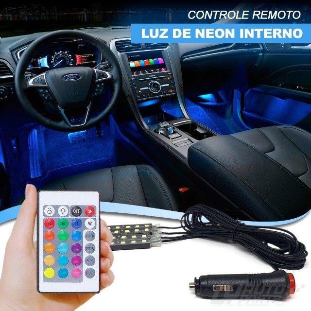 Personalize o interior do seu veículo - Led Interno Rgb Automotivo Tuning Neon 7 Cores  - Foto 9