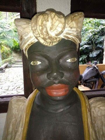 Escultura em madeira peça antiga  - Foto 5