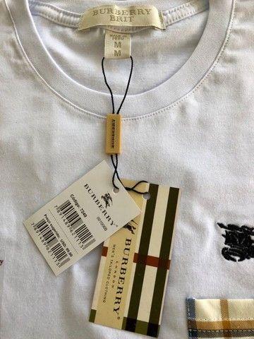 camisetas burberry atacado basicas masculinas  - Foto 2