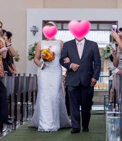 Vestido de noiva Sereia (M) **Aceito Cartão** - Foto 4