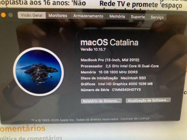 MacBook Pro 2012 16gb ram ssd 13 pol novo! - Foto 3