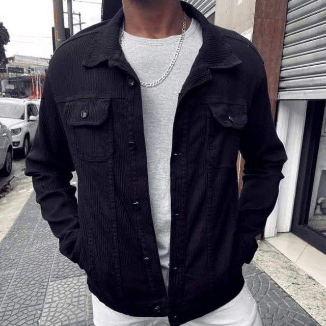 Jaquetas jeans feminina e masculina  - Foto 6