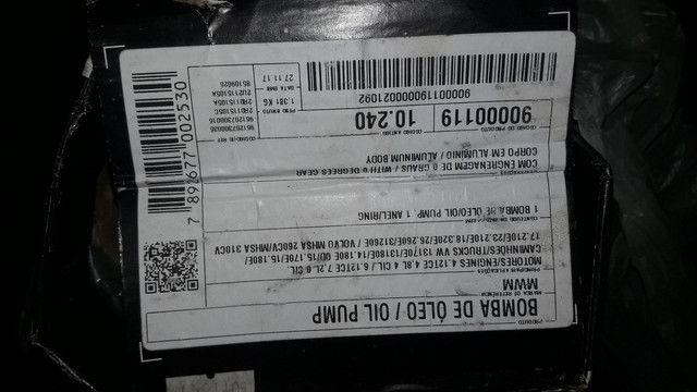 Bomba de oleo  motor mwm x12  4.12 é 6.12  - Foto 4