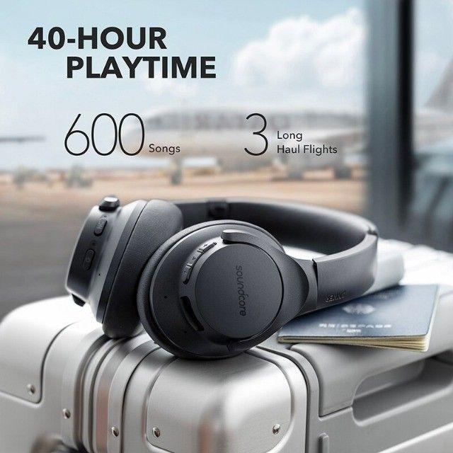 Fone de Ouvido Bluetooth Com Cancelamento de Ruído Ativo Anker Soundcore Life Q20 + Bag - Foto 4