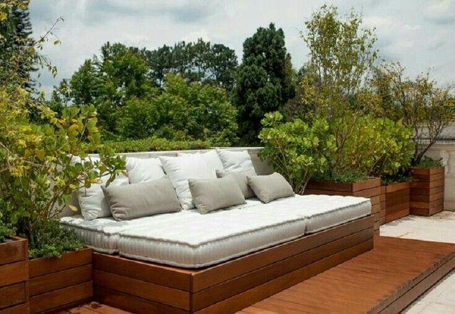 sofás e poltronas para piscinas e Jardim com tecido lmpermeabisante  - Foto 6