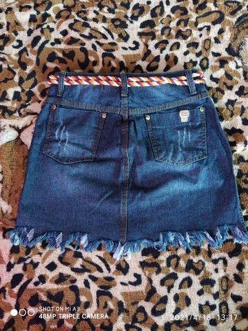 Saia jeans tamanho 40 sem laycra - Foto 2