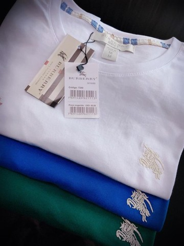 camisetas burberry atacado minimo 10 pcs envios imediatos  - Foto 4