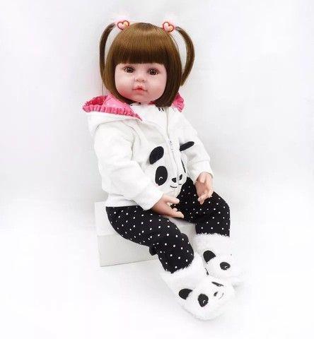 Bebê Reborn Panda 100% silicone  - Foto 3