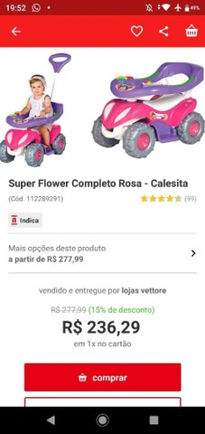 QUADRICICLO Super Flower Rosa CALESITA - Foto 6