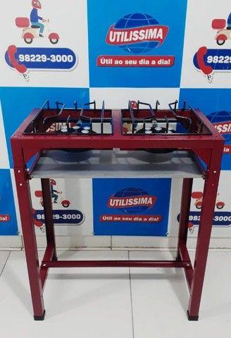 Fogão industrial Alta Pressão 2 Bocas Com Pé / marca ROA - Entrega grátis - Foto 3