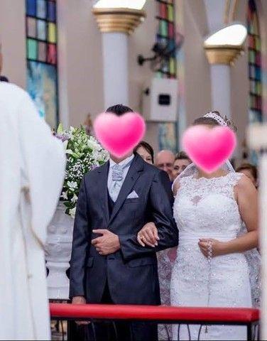 Vestido de noiva Sereia (M) **Aceito Cartão** - Foto 6