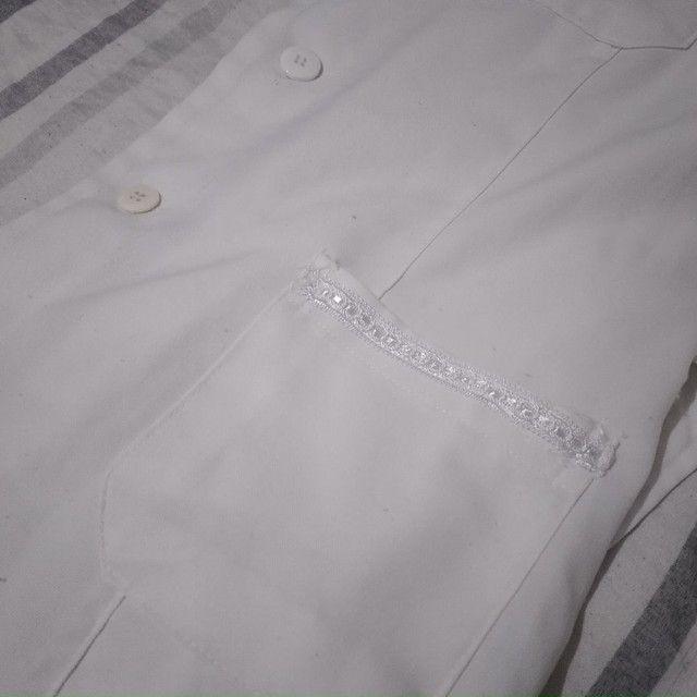 Jaleco Branco M grande - Foto 5