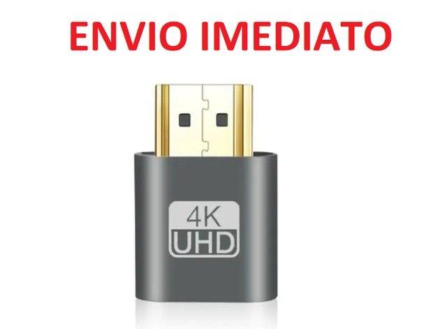 Vga Hdmi Dummy Plug Virtual Display 4k Adaptador Mineração