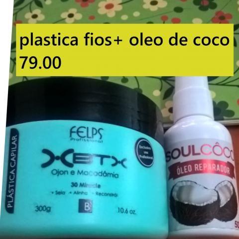 Plastica dos fios + oleo de coco
