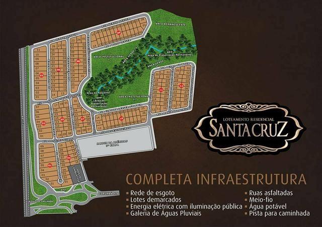 Lotes Financiados - Entrada Facilitada 12 Vezes - Residencial Santa Cruz - Anápolis-GO - Foto 3
