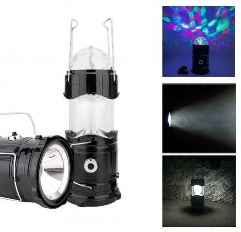 Lampião 3 em 1 Luminária Led Giratória Lanterna Recarregável - Foto 2