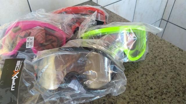 Oculos Proteção Cross Espelhado e Cristal - Diversas Cores = Atualizado !!! - Foto 3