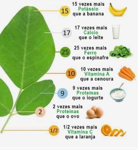 Moringa oleifera. farinha da moringa oleifera. 400g. frete grátis - Foto 3