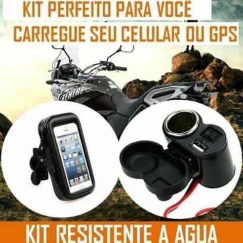 Kit suporte + carregador impermeaveis. Loja no Centro de Cachoeirinha