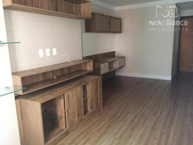 Apartamento com 3 quartos para alugar, 85 m² por R$ 1.500/mês - Itapuã - Vila Velha/ES - Foto 2