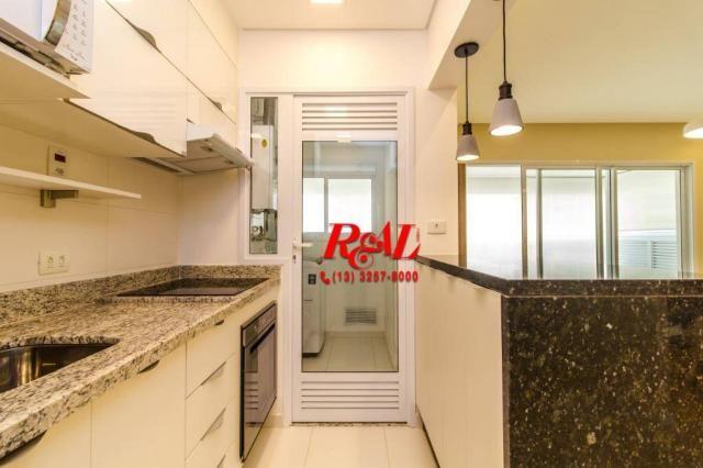 Apartamento com 1 dormitório para alugar, 53 m² por R$ 3.200,00/mês - Ponta da Praia - San - Foto 16